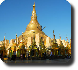 Shwedagon-Pagode in Burma